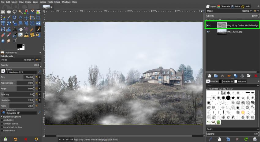 Új ködkép réteg háttér nélkül