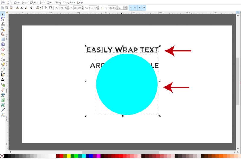Selecione dois objetos simultaneamente no Inkscape