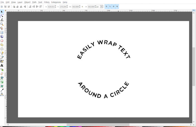 Text Wrapped Around a Circle Inkscape Tutorial