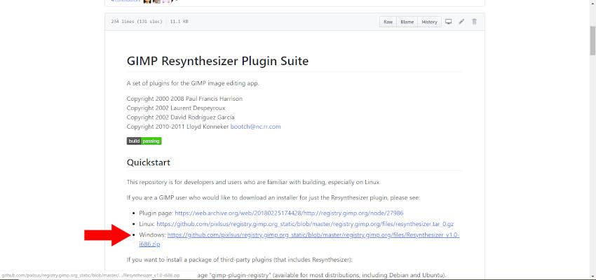 GIMP Resynthesizer Plugin Read Me File
