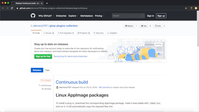 मैक स्थापित लिंक के लिए GIMP Resynthesizer प्लगइन