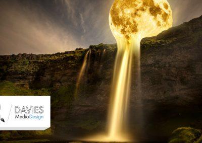 Měsíční vodopád Foto Manipulace (výuka GIMP)