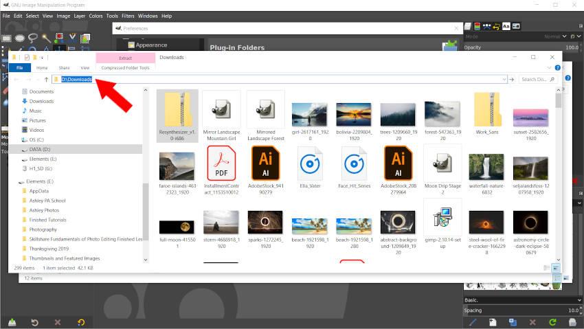 Select File Explorer File Location