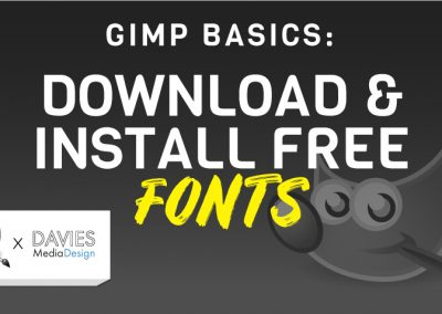 How to Download and Install Fonts in GIMP (Windows)