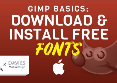 How to Download and Install Fonts for GIMP (MAC)