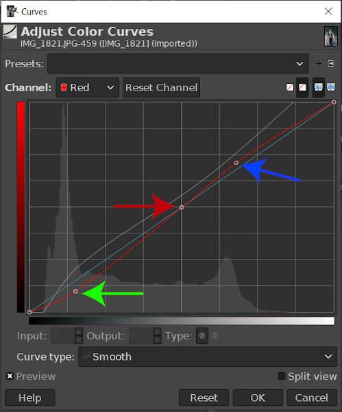 Rode curve aanpassen GIMP 2 10 18 Tutorial