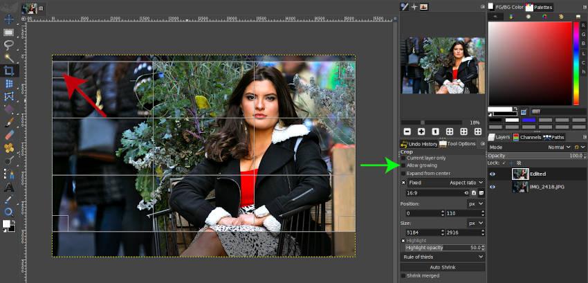 GIMP 2 10 18で画像をトリミングする