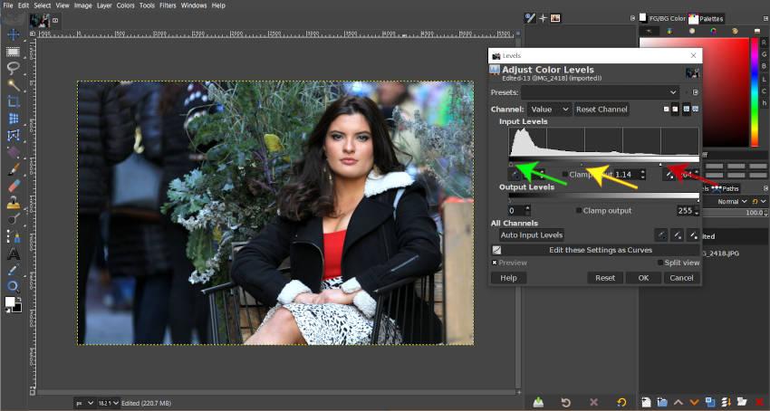GIMPレベルツール調整2020チュートリアル