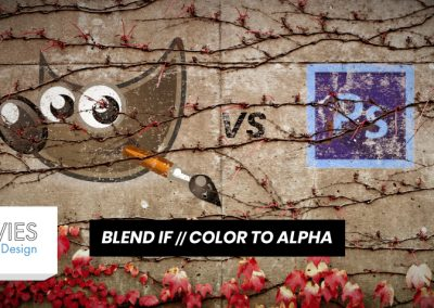 GIMP vs. Photoshop: Blend If and Color to Alpha Compared