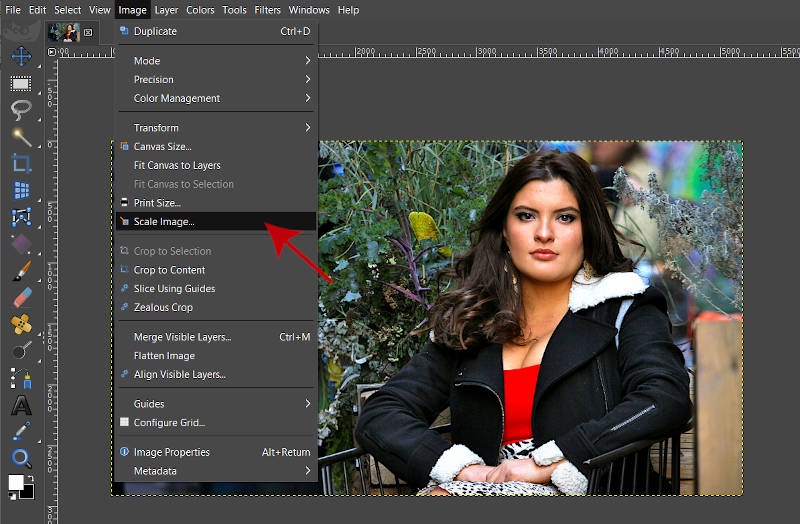 GIMPでのイメージスケールイメージイメージの編集