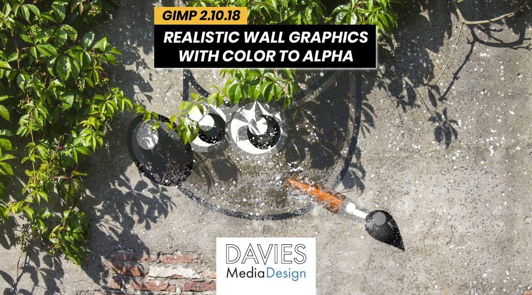 Create Realistic Wall Graphics in GIMP with Color to Alpha