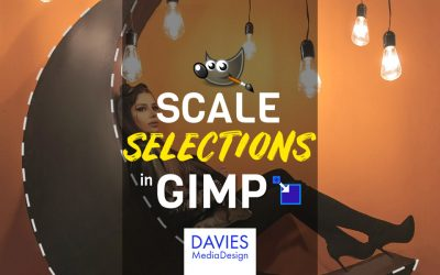 How to Scale a Selection in GIMP