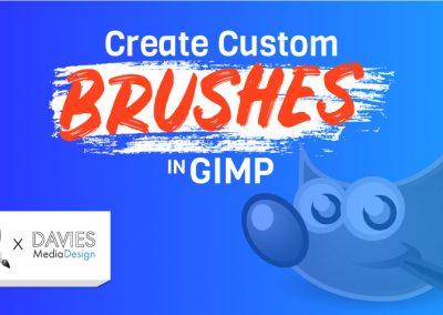 VŠECHNY 4 metody vytváření vlastních štětců v GIMP | VŠECHNY typy štětců vysvětleny