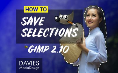 How to Save Selections in GIMP