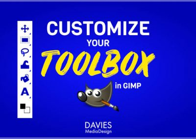 Customize the GIMP Toolbox | Single Column, Icon Colors, Grouped Tools
