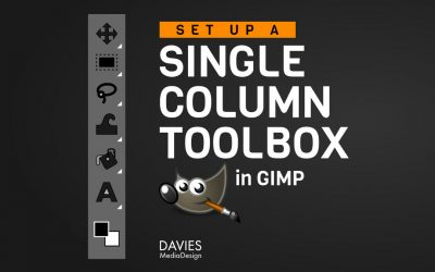 How to Make Your Toolbox a Single Column in GIMP