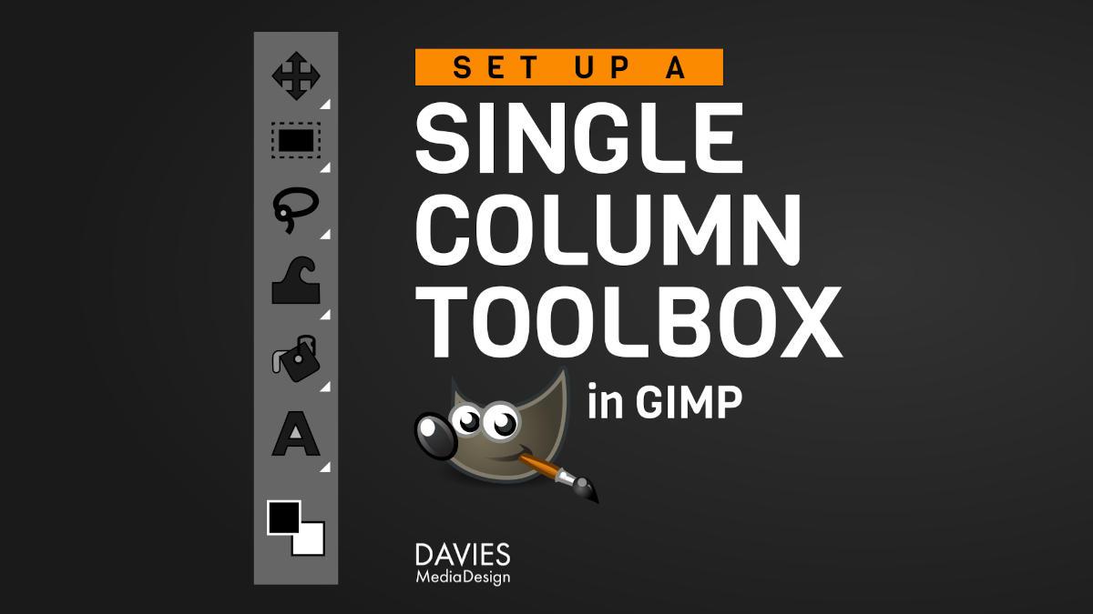 Caja de herramientas de una sola columna destacada
