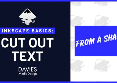 How to Cut Out Text in Inkscape 1.0 (Inkscape Basics)