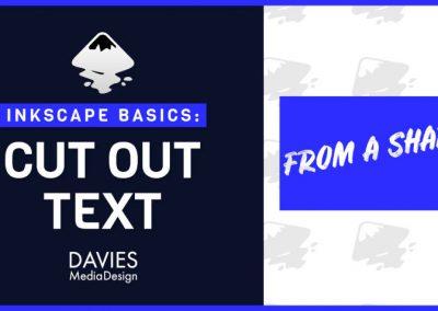 Szöveg kivágása az Inkscape 1.0 programban (az Inkscape alapjai)