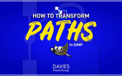 How to Transform Paths in GIMP
