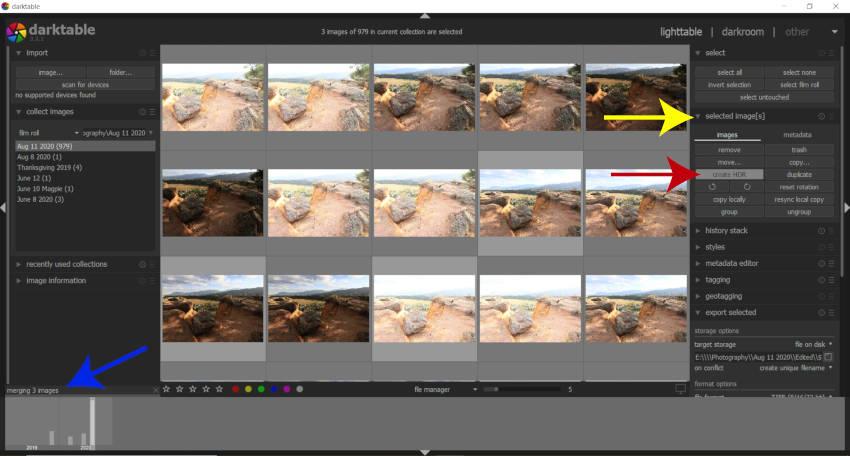 Create an HDR Merge DNG Image Darktable Tutorial