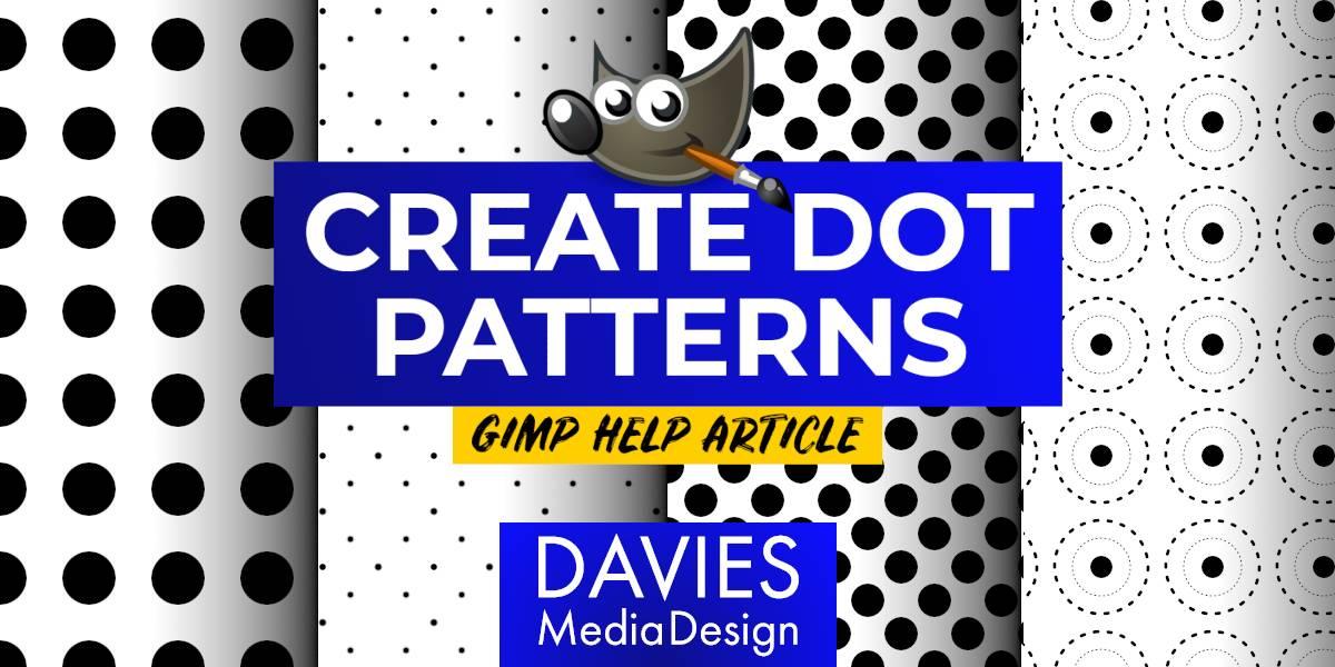 김프 도움말 문서에서 도트 패턴을 만드는 방법