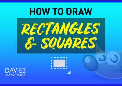 Kako narisati pravokotnik in kvadrat v GIMP